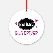 Retired Bus Driver Ornament (Round)