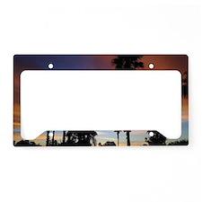 Palm Springs Sunset License Plate Holder