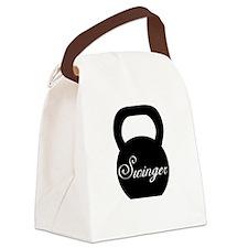 Kettlebell Swinger Canvas Lunch Bag