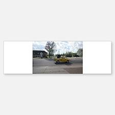 Antique Yellow Truck Bumper Bumper Bumper Sticker