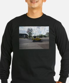 Antique Yellow Truck Long Sleeve T-Shirt
