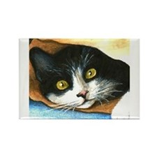 Unique Paintings of cats Rectangle Magnet