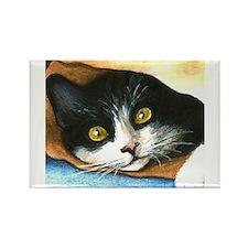 Unique Cat painting Rectangle Magnet