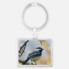 Spring Chickadee Landscape Keychain