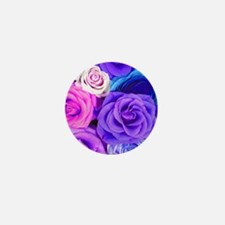 Cool Purple rose Mini Button