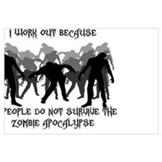 Zombie Workout Poster