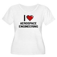 I Love Aerospace Engineering Plus Size T-Shirt