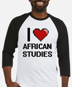 I Love African Studies Baseball Jersey