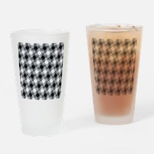 Blurry Houndstooth Drinking Glass