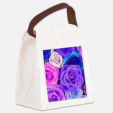 Unique Purple rose Canvas Lunch Bag