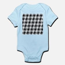 Blurry Houndstooth Body Suit