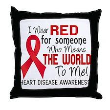 Heart Disease MeansWorldToMe2 Throw Pillow