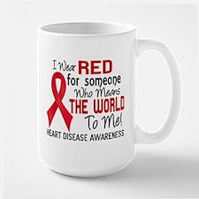 Heart Disease MeansWorldToMe2 Large Mug