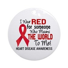 Heart Disease MeansWorldToMe2 Ornament (Round)