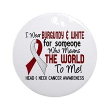 Head Neck Cancer MeansWorldToMe2 Ornament (Round)