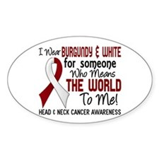 Head Neck Cancer MeansWorldTo Decal