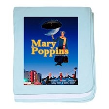 Funny Mary poppins baby blanket