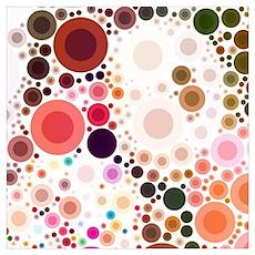mod circles pattern Poster