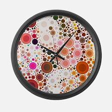 mod circles pattern Large Wall Clock