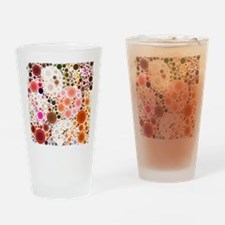 mod circles pattern Drinking Glass