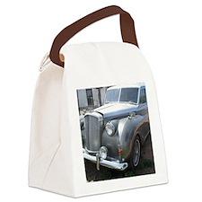 A Silver Car. Canvas Lunch Bag