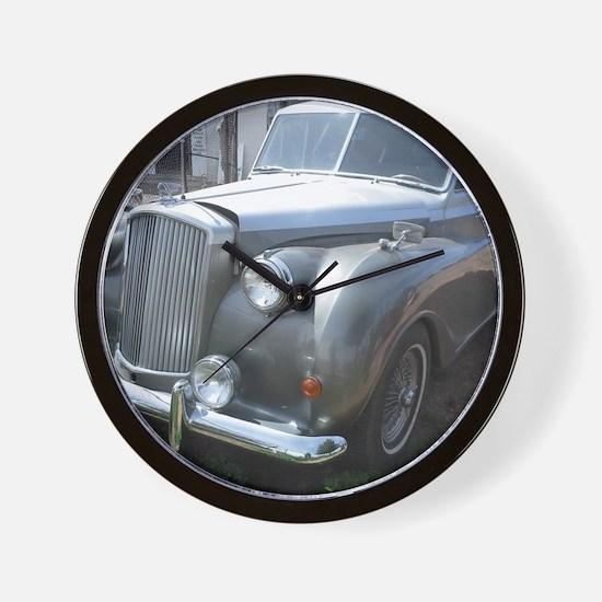 A Silver Car. Wall Clock