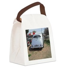 Rear Of A Silver Car Canvas Lunch Bag