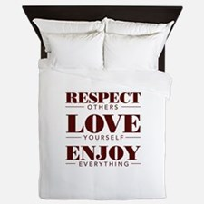 Respect Love Enjoy Queen Duvet