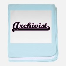 Archivist Classic Job Design baby blanket