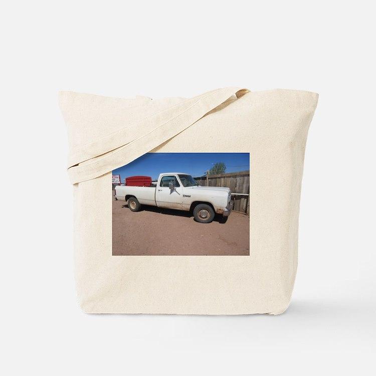 Antique White Truck Tote Bag