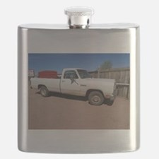 Antique White Truck Flask