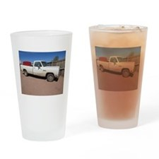 Antique White Truck Drinking Glass