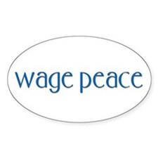Wage Peace Oval Decal