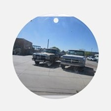 Old Trucks Ornament (Round)