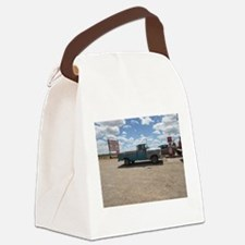 Old Turquoise Truck Canvas Lunch Bag