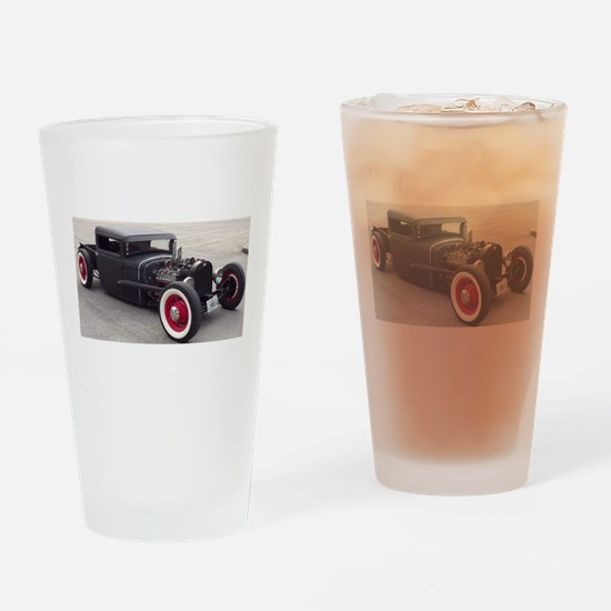 Hot Rod Drinking Glass
