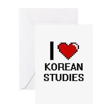 I Love Korean Studies Greeting Cards