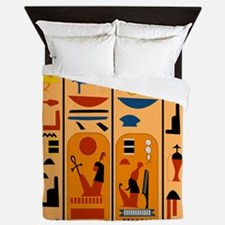 Hieroglyphics Queen Duvet