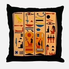 Hieroglyphics Throw Pillow