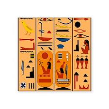 "Hieroglyphics Square Sticker 3"" x 3"""