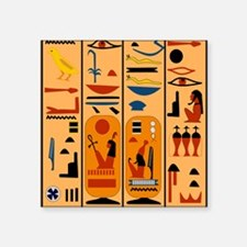 "Hieroglyphics Square Sticker 3"" x 3"""