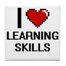 I Love Learning Skills Tile Coaster