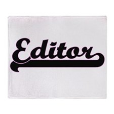 Editor Classic Job Design Throw Blanket