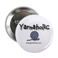 """Yarnaholic 2.25"""" Button (100 pack)"""