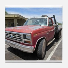 Old Red Truck Tile Coaster
