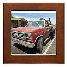 Old Red Truck Framed Tile