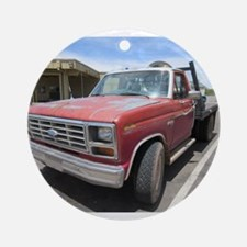 Old Red Truck Ornament (Round)