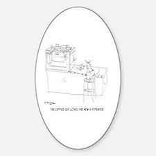 Cat Cartoon 9261 Sticker (Oval)