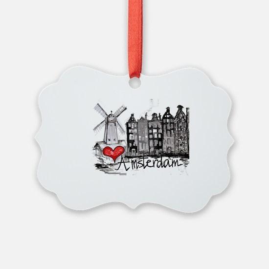 I love Amsterdam Ornament