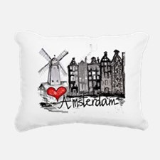 I love Amsterdam Rectangular Canvas Pillow